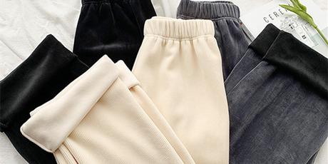 【精选好物】微胖女生的救星裤子,过冬一条就够了!59元抢活动价158元雪尼尔灯芯绒裤,灯芯绒面料里夹着亮丝,微微光泽感,直筒挺阔有型舒服百搭,内里柔软牛奶绒,舒适又温暖,垂坠质感遮肉显瘦,想要大长腿的盘ta!